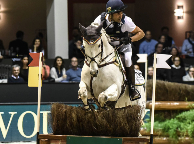 Quilate y Albert Hermoso Farràs en el Devocoux Indoor Derby